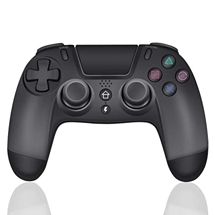 J&T PS4 Wireless Controller with Turbo Combo Key 3.5mm Earphone Jack Third Party Gamepad for