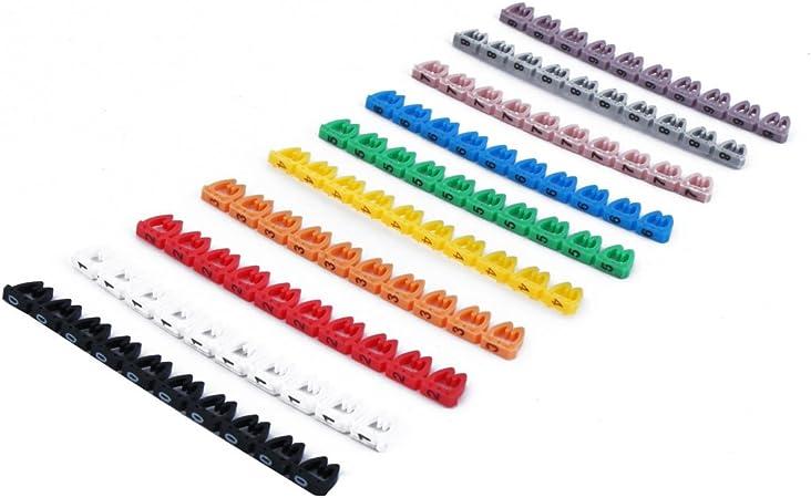 sourcing map 10 Piezas de plástico marcadores de Cable de Alambre ...