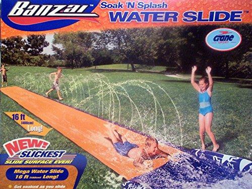 - Banzai Soak 'N Splash Mega Water Slide with NEW Slickest Slide Surface Ever!