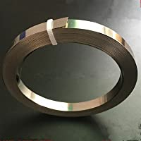 Wnuanjun 1 stuk Nichrome platte verwarmingsdraad voor verwarmingselement 5m lengte 0,15/2/0,25 mm dikte (grootte: 0,15x8…