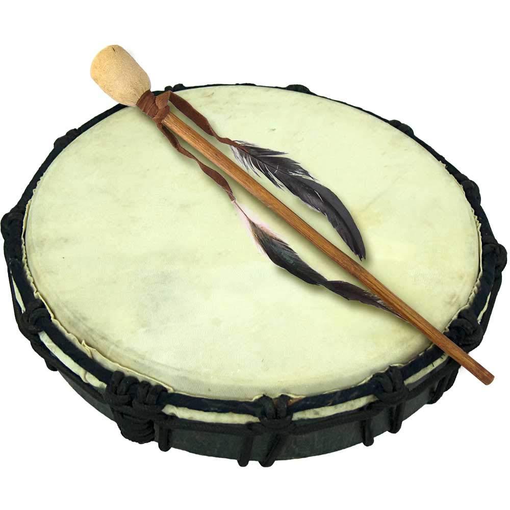4Rissa 10'' Handmade Ceremonial Drum Instrument Earth Shaman World Hand Native Circle