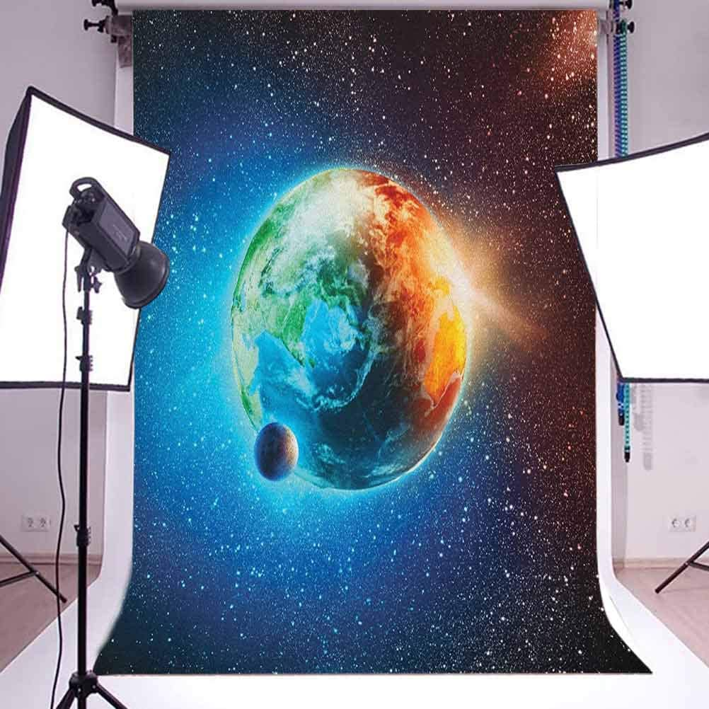 7x10 FT Fantasy Vinyl Photography Backdrop,Fantasy Spot with Golden River in Mars with Nebula and Other Planets Solar Zodiac Theme Background for Party Home Decor Outdoorsy Theme Shoot Props
