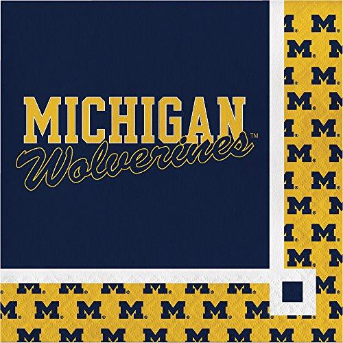 Creative Converting Michigan Wolverines Beverage Napkins (20 Count)]()