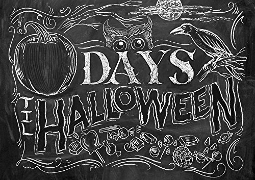 Days 'til Halloween by CJ Hughes Art Print, 14 x 10 inches -