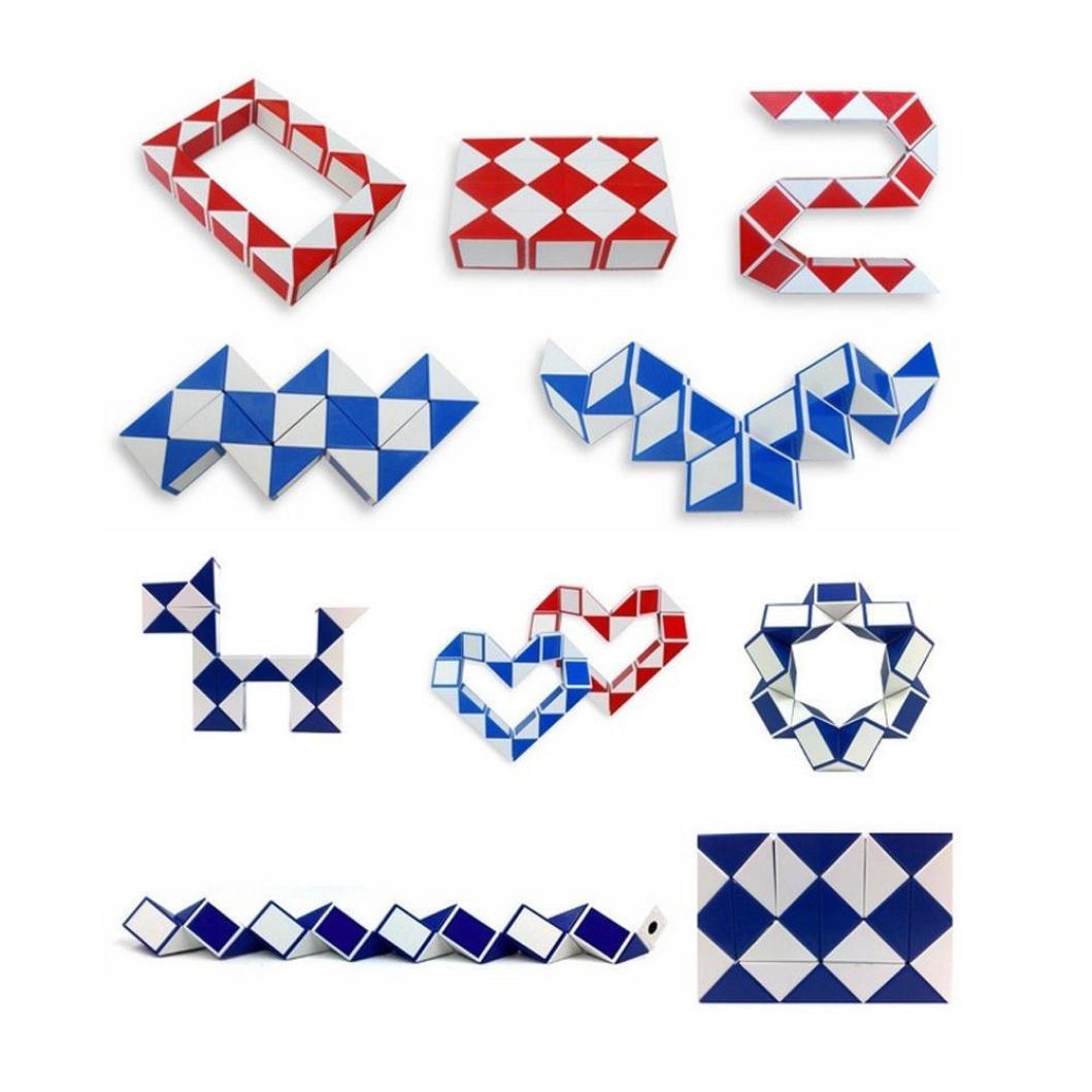SANNYSIS 1PC 2017 Cool Snake Magic Puzzle Variety Popular Twist Kids Game Transformable Cube (Random Color)