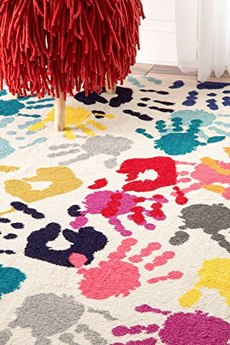 nuLOOM Handprint Collage Kids Nursery Area Rugs, 5' x 8', Multicolor by nuLOOM (Image #3)