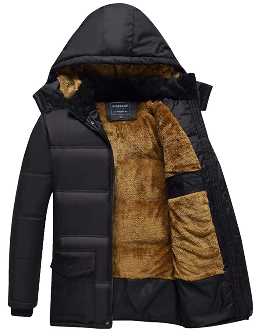 XQS Mens Lightweight Long Sleeve Hooded Quilted Padded Puffer Down Jacket
