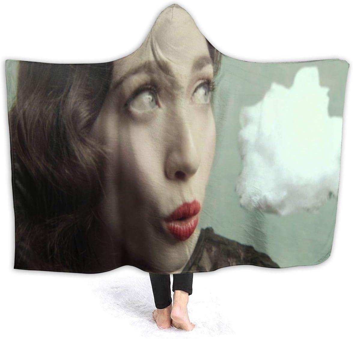 MHOLEBUKL Regina-Spektor Hooded Throw Blanket Cobijas Franela Bedding Manta De Felpa Suave Aire Acondicionado De Oficina Mantas De Sofá Cama para Bolsa De Dormer