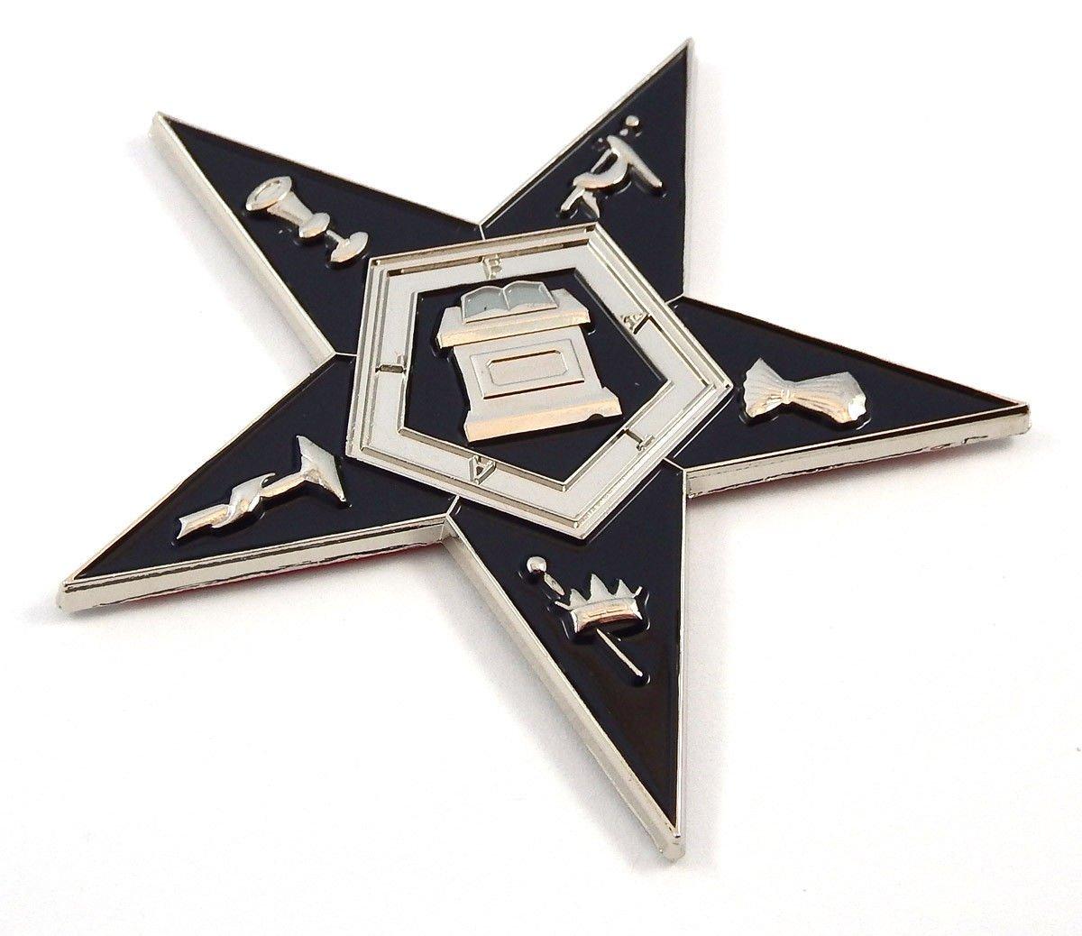 Aplique Masónico con forma de estrella de la oreja 3 MAS34