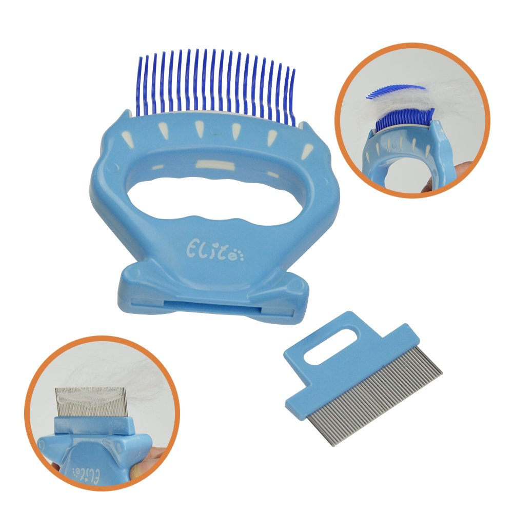 bluee Comb-Teeth ihomiong Pet Shell Design Brush Dog Fur Remover Cat Hair Shedding Tool Grooming Comb,bluee Teeth