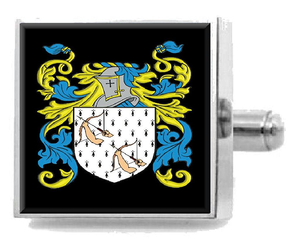 Select Gifts Fuddie Scotland Heraldry Crest Sterling Silver Cufflinks Engraved Message Box
