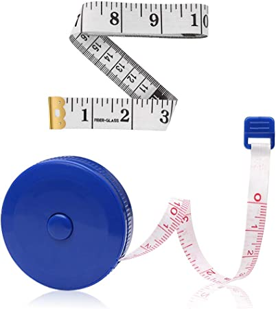 Andiker Measuring Tape for Body Retractable,Soft Cloth Sewing Tape for Tailors 2 M//80 Inch Ruler