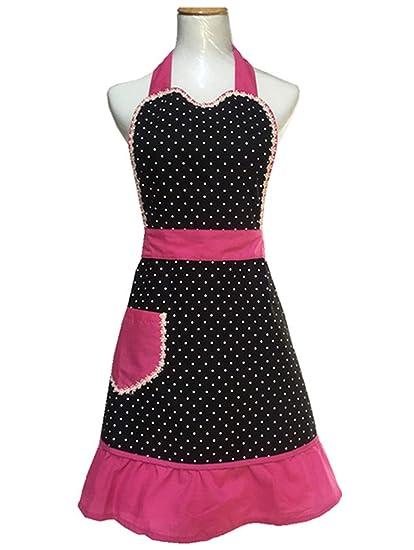5bae63463df5 Amazon.com  Hyzrz Lovely Sweetheart Retro Kitchen Cotton Cooking ...
