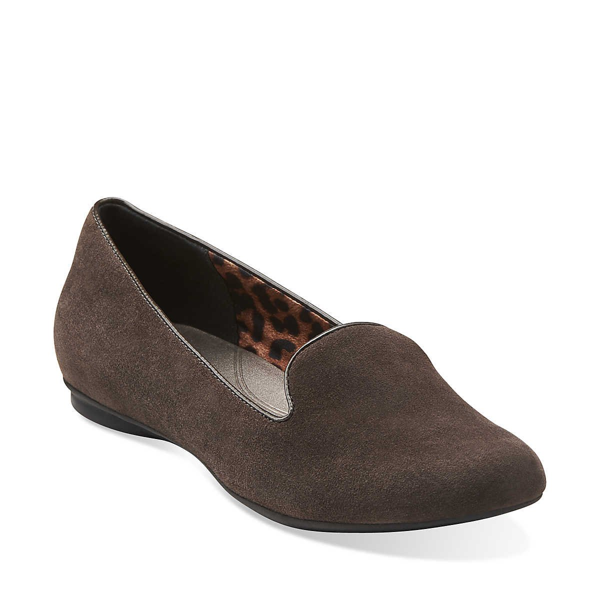 20224e23d62c9 Clarks Womens Poem Gloss Pewter Suede
