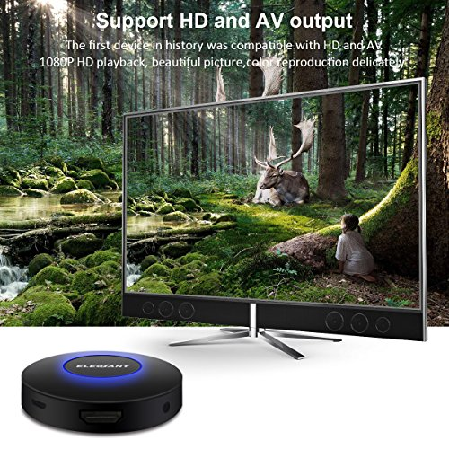 WIFI Display Dongle, ELEGIANT Wireless Screen Mirroring Adapter 1080P Video Receiver Mini Display Receiver HD AV Dual Output Support Airplay DLNA Miracast for iOS/Android/TV/Projector by ELEGIANT (Image #6)