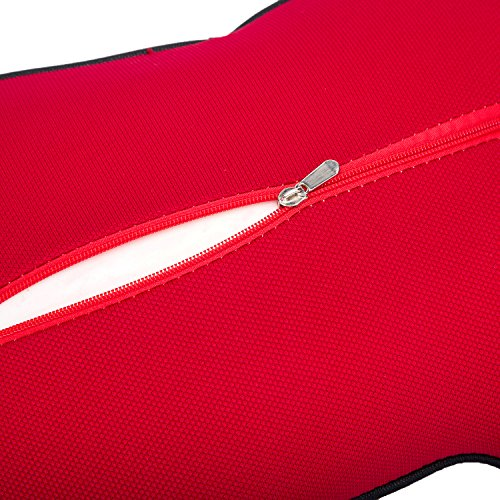 Car Neck Support Pillow for Driving, Car Seat Headrest Pillow with Soft Memory Foam (Red) by ComfyWay (Image #5)