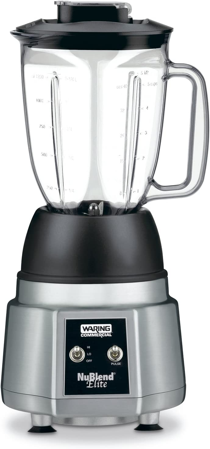 Waring Commercial BB190 NuBlend 3/4 HP Elite Commercial Blender with 44-Ounce Polycarbonate Container
