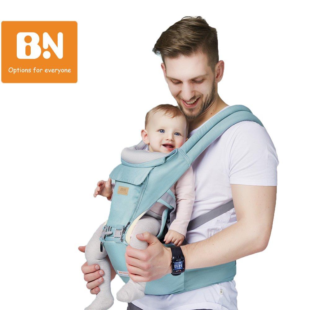 11 in 1 Baby Carrier/Babytrage/Bauchtrage/Rückentrage Neugeborene 360 One for All Seasons- 6 Position für Säuglinge von 0 bis 36 Monaten oder von 0 bis 15 Kg (Blau) GossipBoy