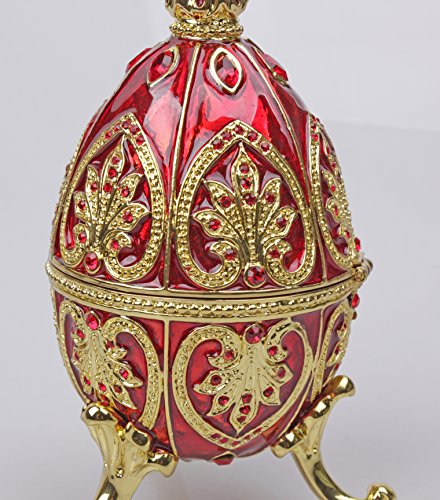 znewlook Engagement Ring Box Pendant Jewelry Boxes Gift Box Red Egg Trinket (Red)