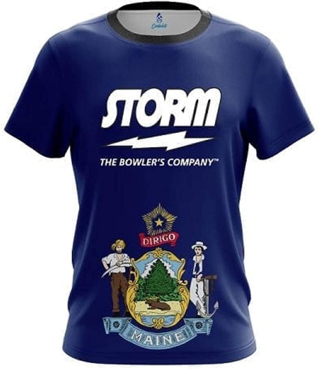 CoolWick Storm Maine Flag Bowling Jersey