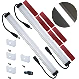 Litever Extra Under Cabinet Lighting Bars,12VDC, 5000K Daylight White, with Mounting Clips, Screws, Self-adhesive Pads. Compa
