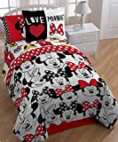 Minnie Mouse Twin Comforter, Sheets & BONUS SHAM (5 Piece Bed In A Bag) + HOMEMADE WAX MELT