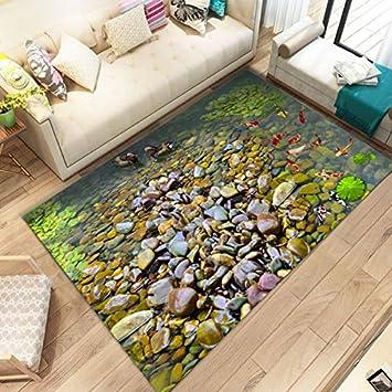 Amazon.de: WXDD Mediterranen Stil 3D Teppich Wohnzimmer Sofa Kaffee ...