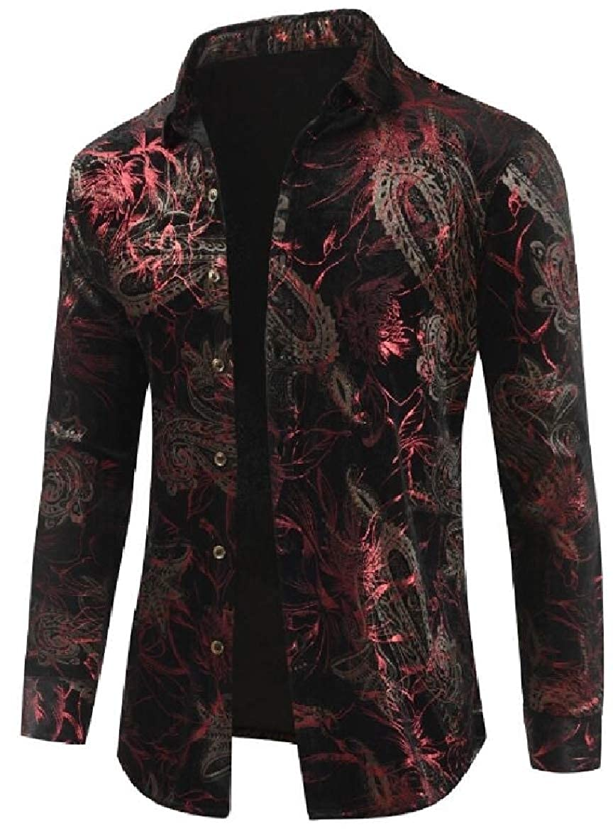 SportsX Mens Tailored Luxury Ethnic Style Plus Size Work Shirt