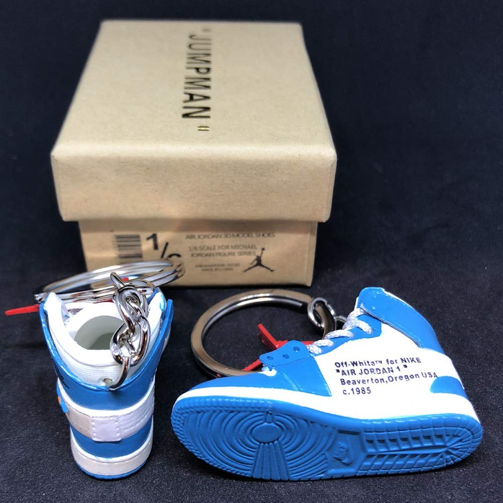 Amazon.com: Pair Air Jordan 1 I High Retro Off White UNC ...