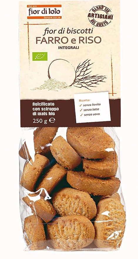 Fior di Loto Fior di espelta galletas y arroz integral orgánicos 250g