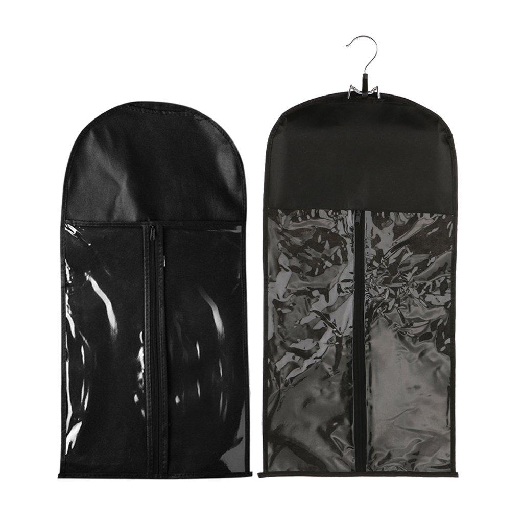 Homyl 2pcs Foldable Professional Dustproof Hair Extension Wig Stand Storage Bag Holder Case Protector Organizer Travel Carrier for Home Salon