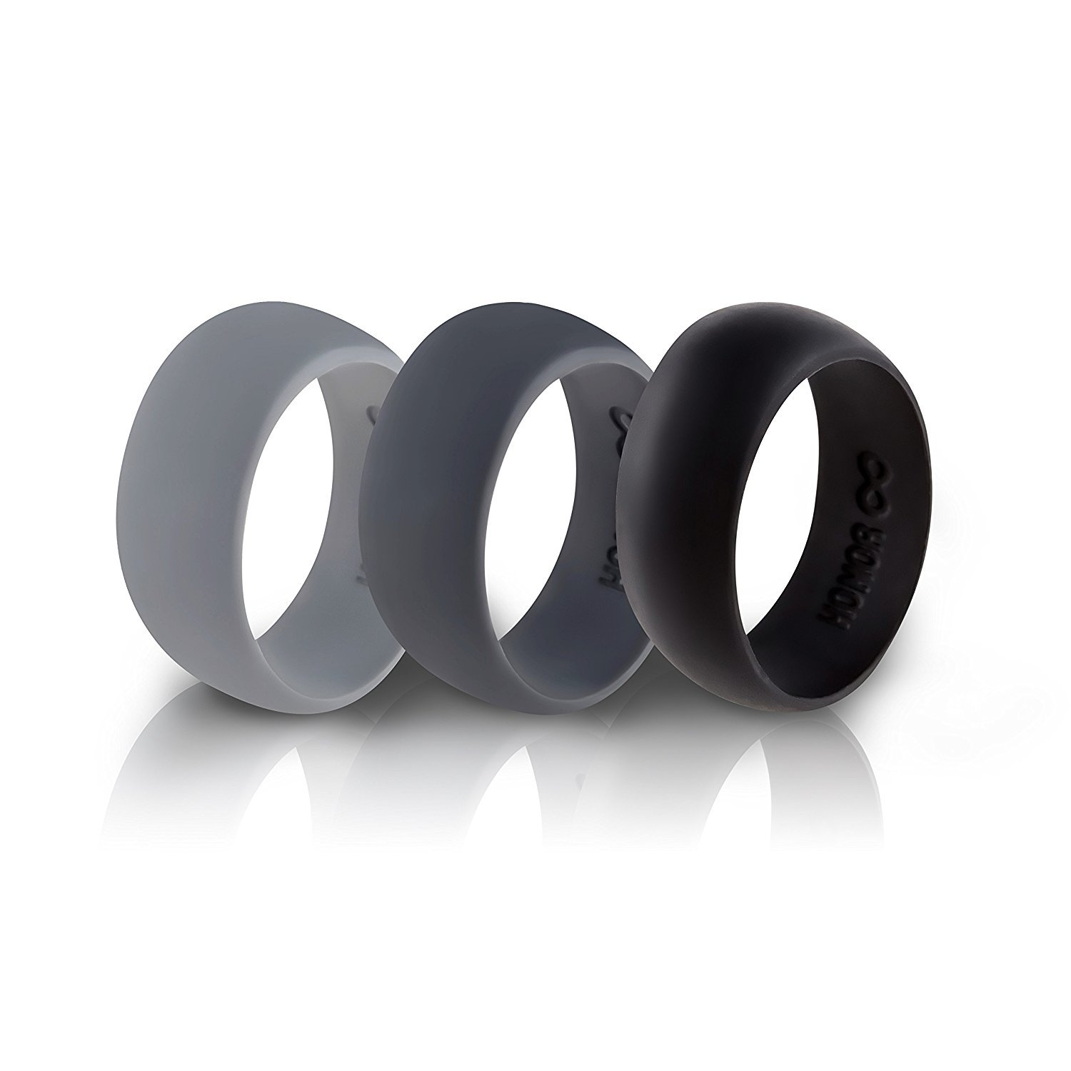 Amazon Silicone Wedding Ring Band by HonorGear 3 Rings