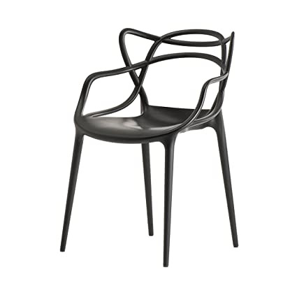 Kartell Masters Chair in Black by Philippe Starck: Amazon.co.uk ...