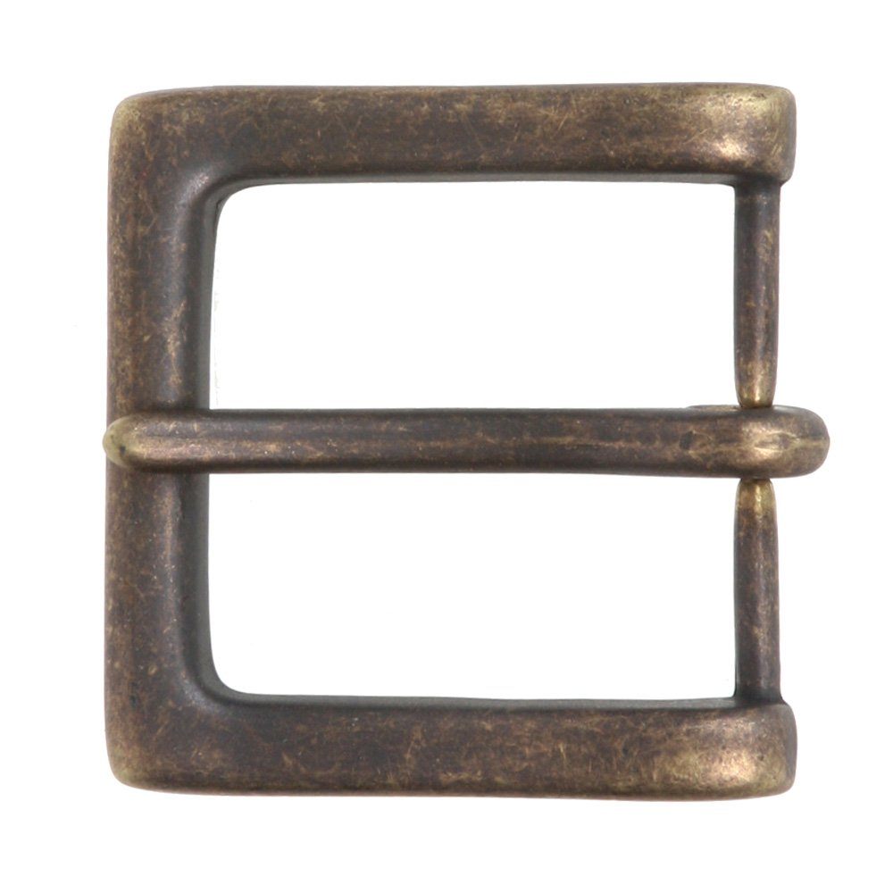 1 1/2 (38 mm) Nickel Free Single Prong Square Belt Buckle, Silver Beltiscool 259840:A01D