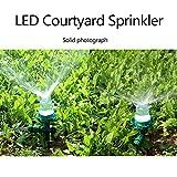 Foerteng Water Sprinklers for Lawns,Outdoor Garden LED Sprinkler