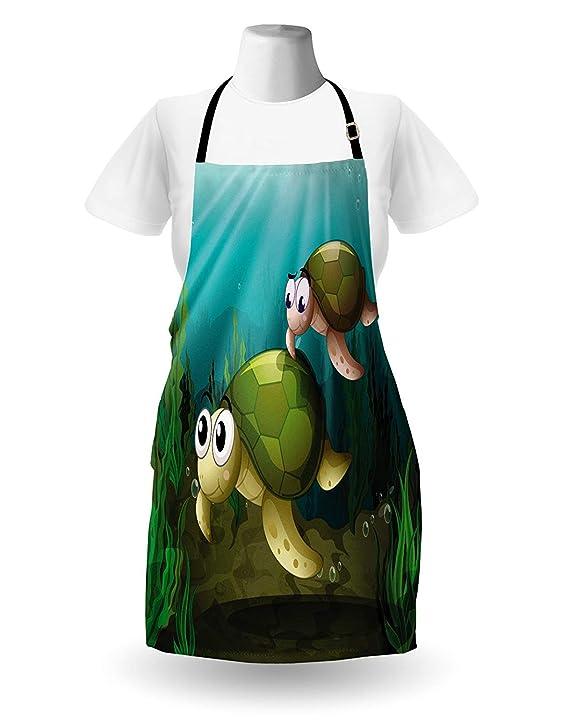 Delantal de tortuga, madre de familia de reptiles marinos ...