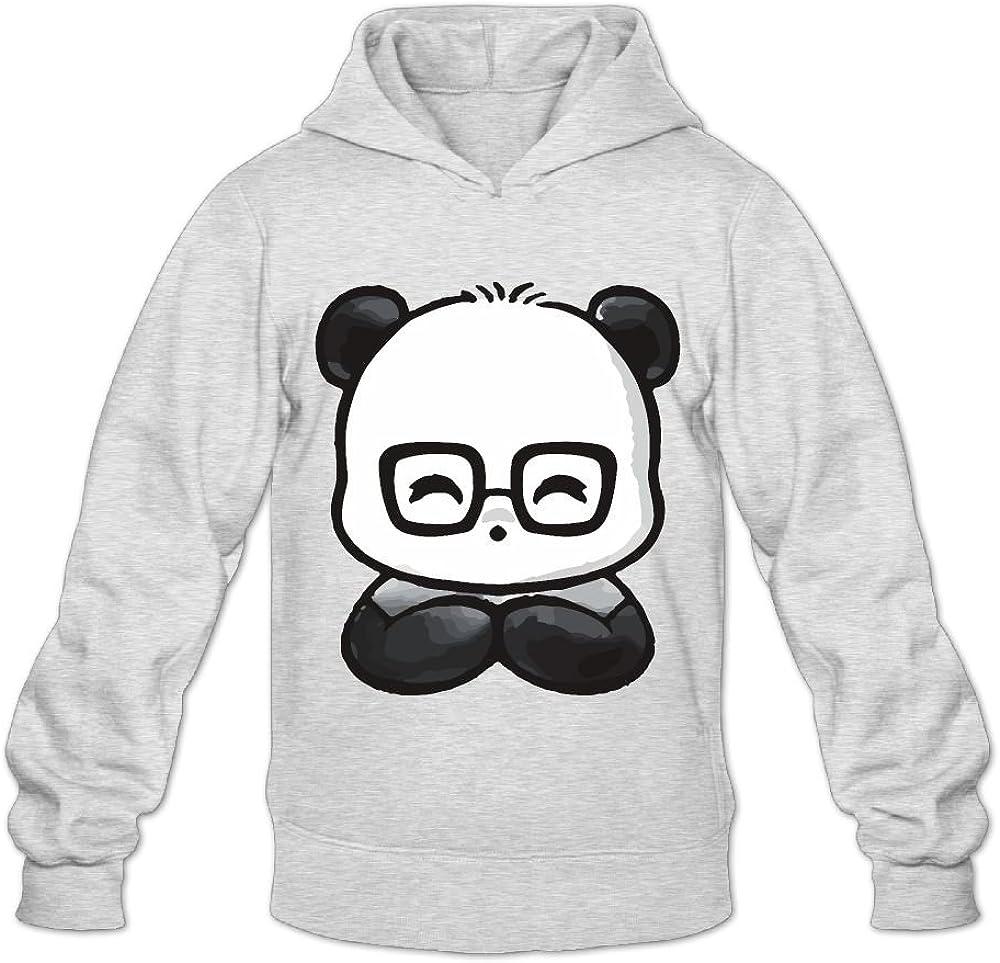 Cute Cartoon Panda Fashion Classic Hoodie Sweatshirt Pullover Hoodie For Men Grey Perfect Gift