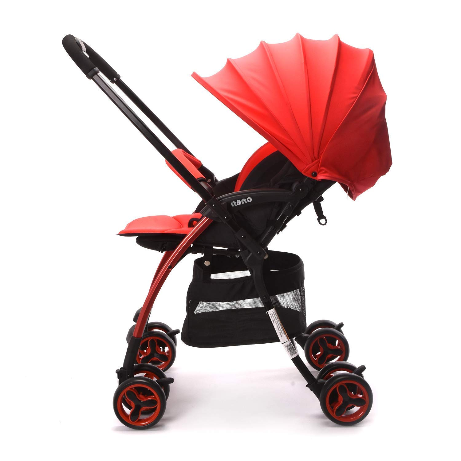 Wonder buggy Lightweight Baby Stroller with Reversible Handle, Easy Foldable and Collapsible (Red)