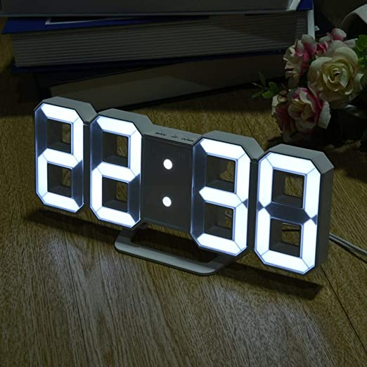 UATECH Reloj de Mesa Digital con Pantalla LED con 8 Formas ...