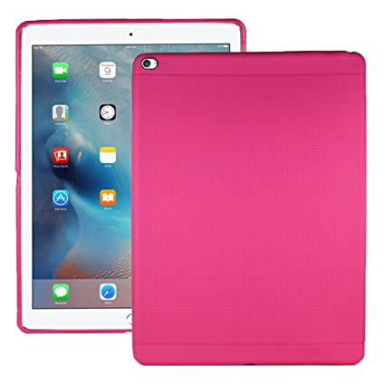 Heartly New Retro Dotted Design Hole Soft TPU Matte Bumper Back Case Cover for Apple iPad Pro 12.9 Inch   Cute Pink