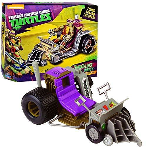Playmates Year 2014 Nickelodeon Teenage Mutant Ninja Turtles Action Figure Vehicle Set - Pavement Pounding Speed Machine DONATELLO'S PATROL BUGGY with Krang Crusher Missile Launcher and 1 Missile (Figure is not Included)