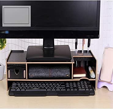 Soporte de monitor/Soporte De Escritorio Para TV/Elevador De Monitor De PC/Organizador De Escritorio Con Soporte Para Teléfono Inteligente (48 * 20 * 11 Cm) 03: Amazon.es: Bricolaje y herramientas
