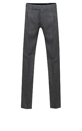 Pantalón Traje Mañanera Negro & Grís Rayado Dobell-56 Largo ...