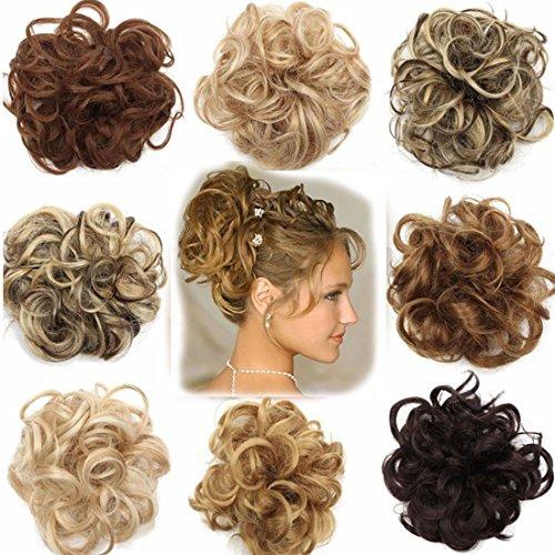 VOLUMINÖS Haarverlängerung Haargummi Haarteil hairpiece Haarverdichtung Zopf Scrunchie Haarband Haarschmuck Kaffee Brown Bis Bleichmittel Blond