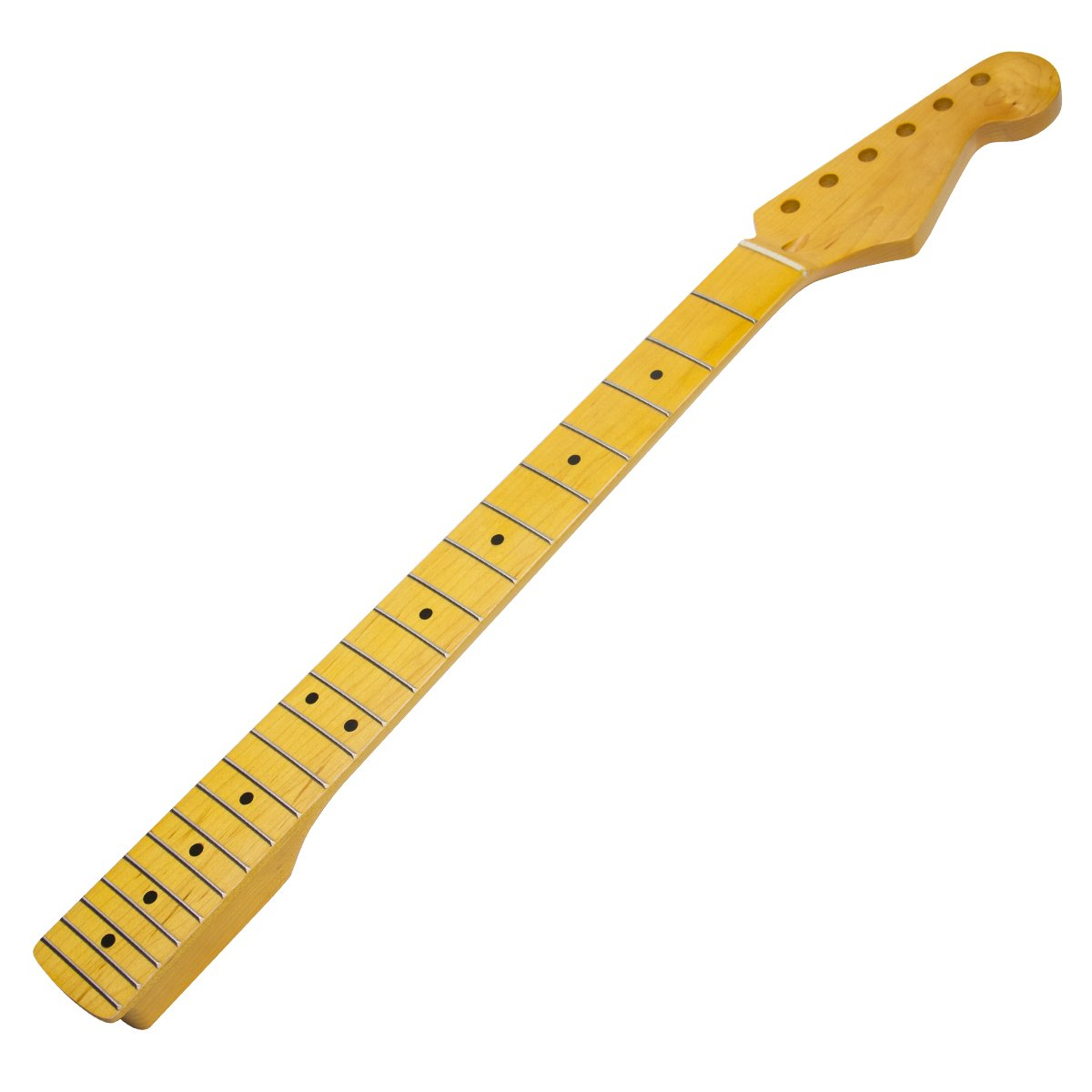 1pc Classic Yellow Maple Guitar Neck 22 Fret Full Fretjob for Fender St Replacement Ltd A0666