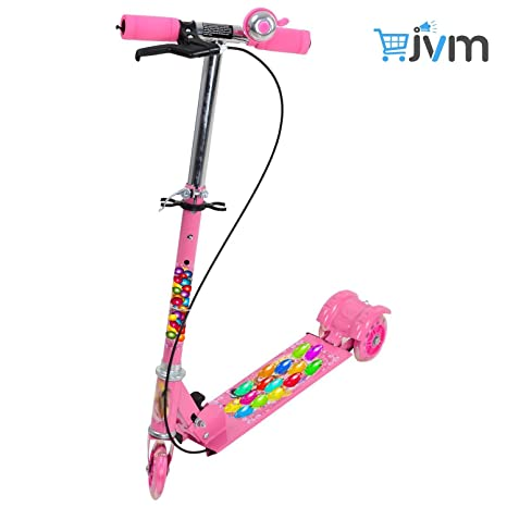 59bbe1a2177 Kids Foldable 3 Wheeler Cycle Height Adjustable with Hand break, Bell and  LED Lights On Wheel -Kid: Amazon.in: Toys & Games