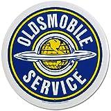 Oldsmobile Service Round Metal Sign