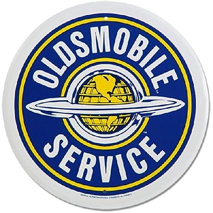 Amazon Oldsmobile Service Round Metal Sign Home Kitchen