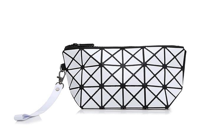 417f484dc2fe XINJU Women's Wallet Long Wrist Strap Lady PVC Geometric Shapes ...
