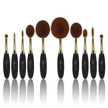 Neverland 5pcs/set cepillo de dientes oval juego de brochas de maquillaje: Amazon.es: Belleza